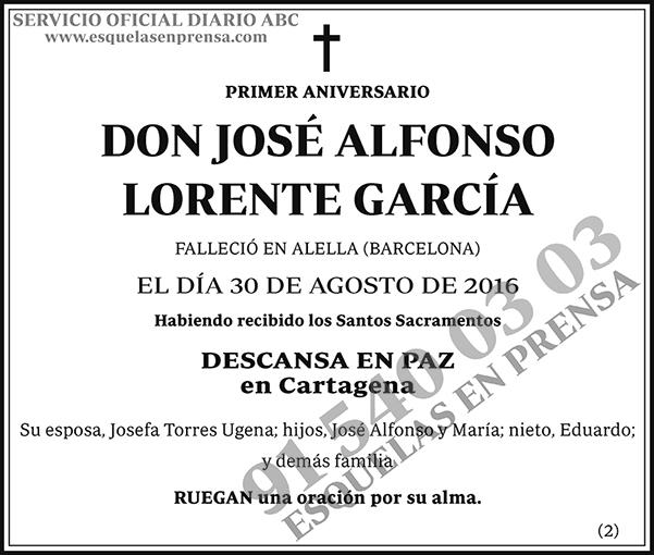 José Alfonso Lorente García
